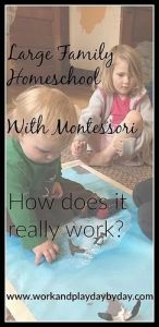 Can you Use Montessori with a Large Family?
